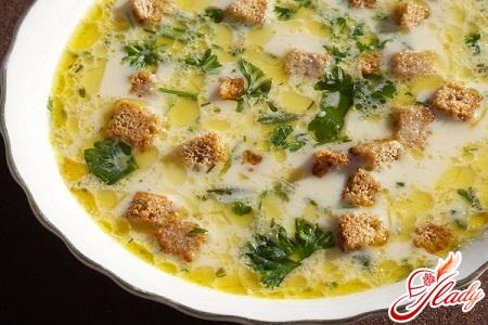 суп пюре сырный в мультиварке