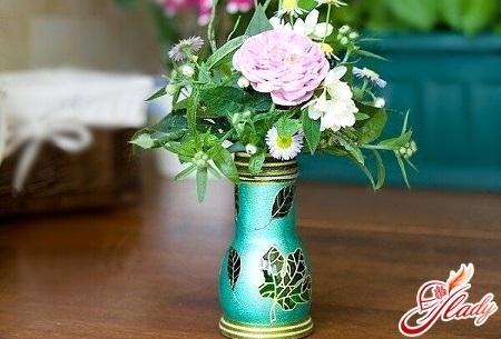 красивая ваза из бутылки своими руками