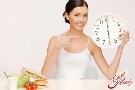 прием пищи должен быть в определенное время
