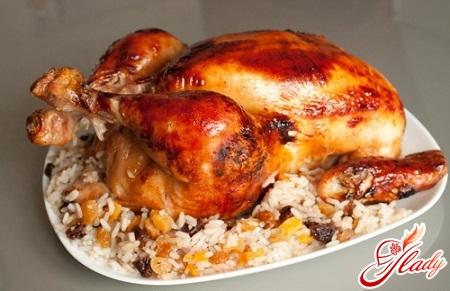 вкусная курица в духовке на соли
