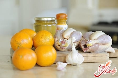 курица с апельсинами для запекания в духовке