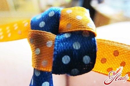 плетение фенечки из 2 лент