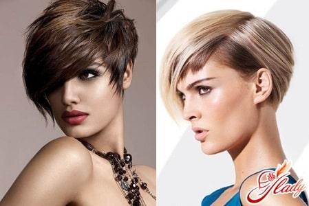 Короткие стрижки для торчащих женских волос
