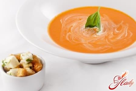 вкусный крем суп с морепродуктами