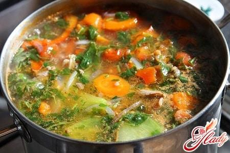 овощной суп с бараниной