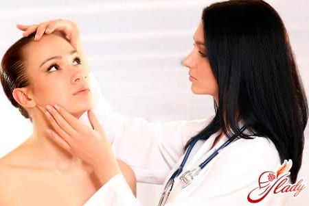 диагностика заболевания в кабинете врача