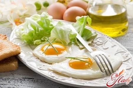 пример завтрака при белкой диете