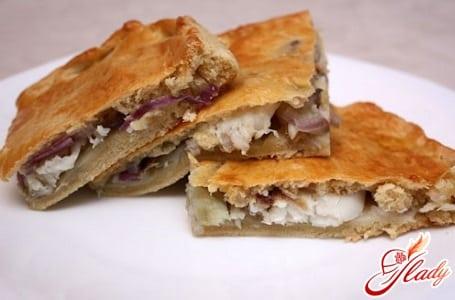 рыбный пирог с минтаем и картофелем