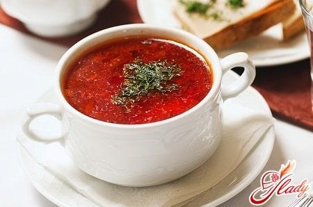разные рецепты украинского борща
