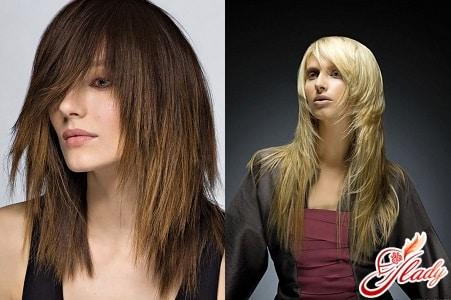 градуированные стрижки на длинные волосы