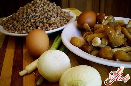 ингредиенты для постного супа с грибами
