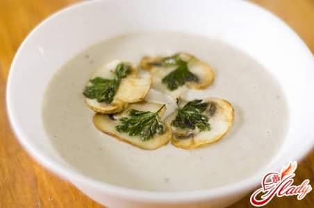 вкусный грибной крем суп