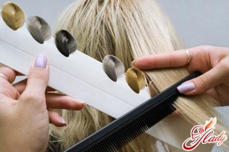 критерии подбора цвета волос