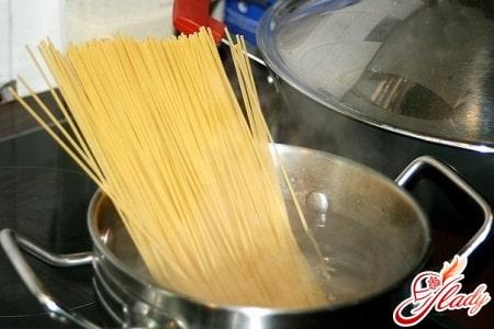 варка спагетти