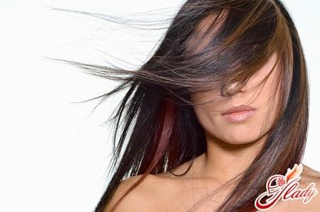 модное колорирование темных волос