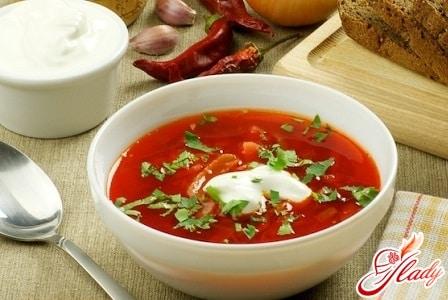 разные рецепты красного борща