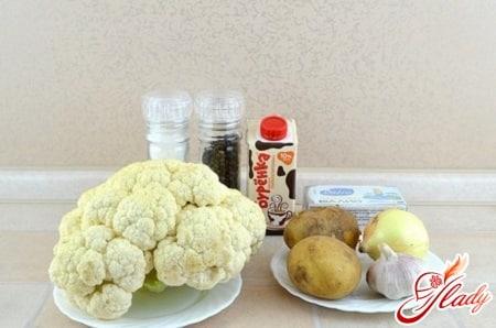 ингредиенты для капустного крем супа