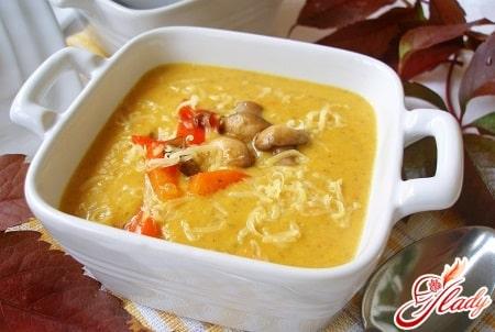 тыквенный крем суп с добавками