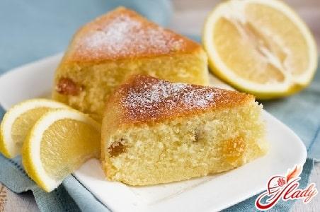 простой рецепт лимонного кекса