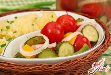 рецепт маринованных огурцов и помидоров
