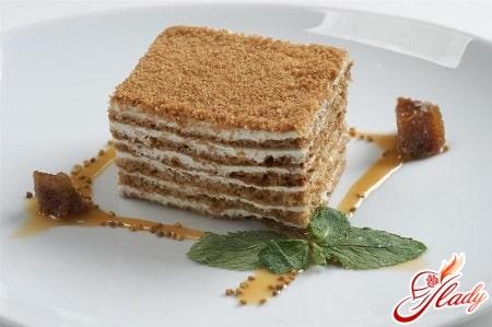 рецепты приготовления торта медовик