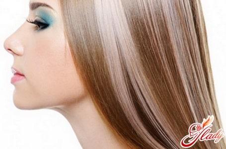редкое мелирование волос