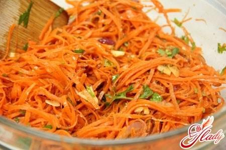 морковь по - крейски с зеленью