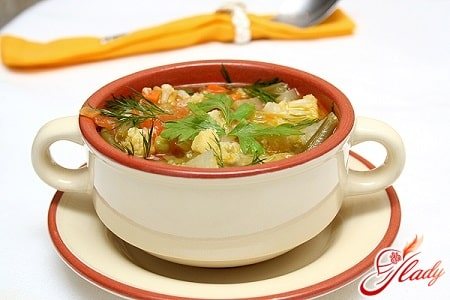 простой суп с овощами
