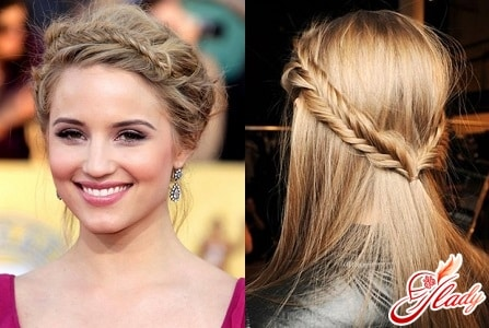Простые причёски с плетением на средние волосы