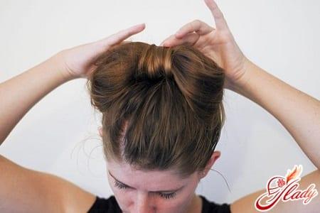 самостоятельный бант из волос
