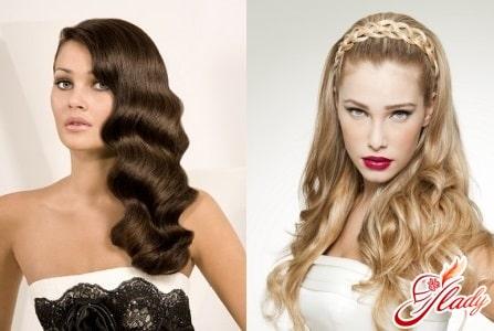 женские прически с распущенными волосами