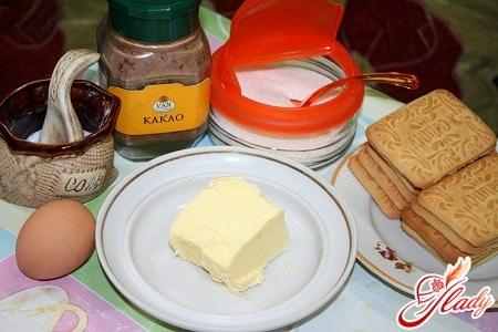 ингредиенты для шоколадной колбасы