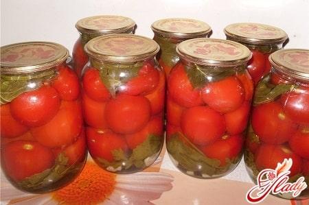 консервирование соленых помидор