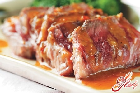 мясо в винном соусе