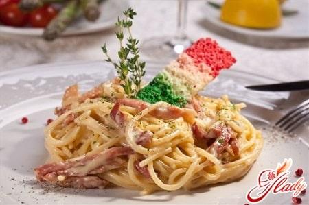 быстрый рецепт приготовления спагетти карбонара