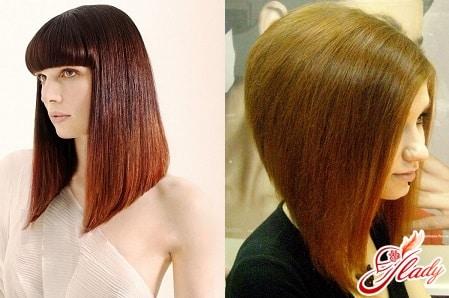 Стрижка боб на длинные волосы фото