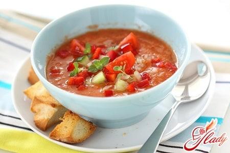 простой рецепт супа гаспачо