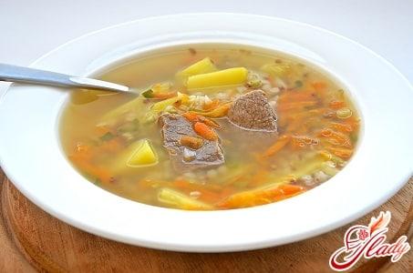 вкусный суп с говядиной