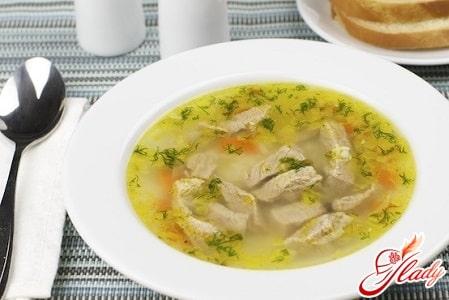 суп с говядиной на грибном бульоне
