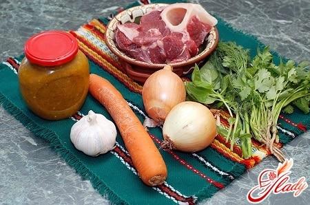 ингредиенты для приготовления супа с добавлением кока колы