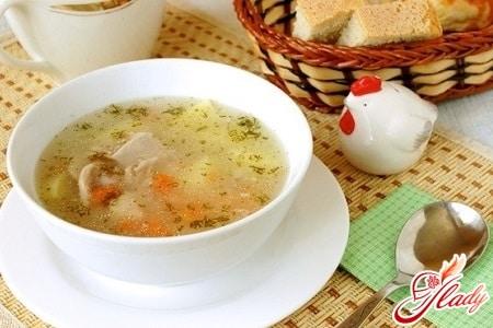 рецепт супа с рисом и курицей