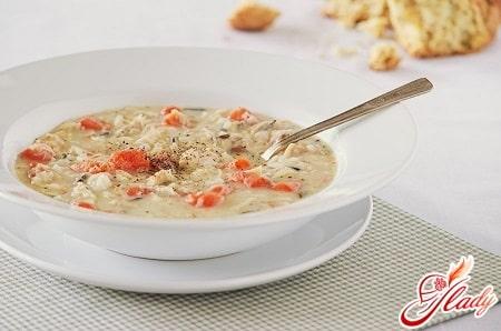 рецепт приготовления куриного супа с рисом