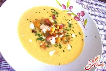 картофельный суп пюре с беконом