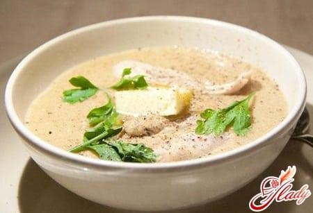 куриный суп пюре с зеленью