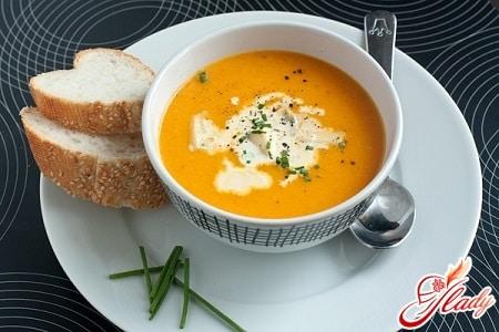 Суп пюре из фасоли и тыквы