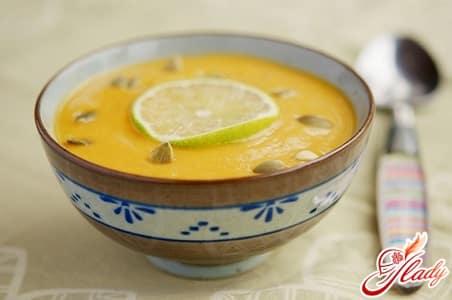 классический тыквенный суп пюре