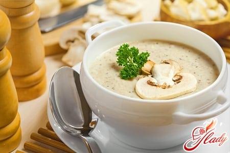 вкусный суп пюре из грибов