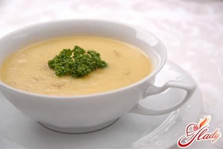 сырный суп с зеленью