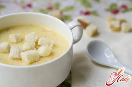 вкусный сырный суп пюре