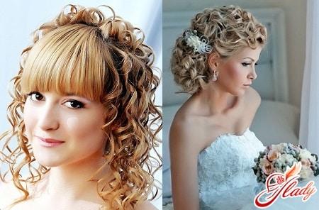 женские свадебные прически для средних волос